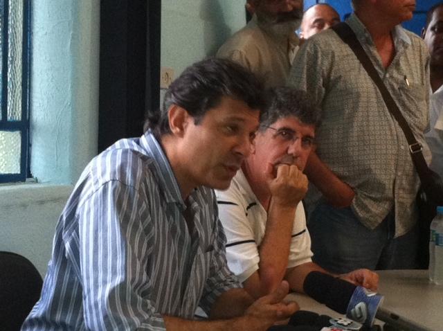 Haddad diz que pré-candidatura de Serra era esperada (Foto: Roney Domingos/G1)