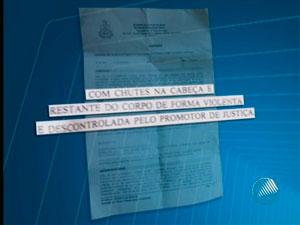Juiza denuncia promotor por agressão (Foto: Reprodução/TV Santa Cruz)