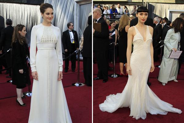 Shailene Woodley e Rooney Mara, eleitas pelo estilista Arthur Caliman as atrizes com os piores looks do Oscar 2012 (Foto: Lucy Nicholson/Reuters)