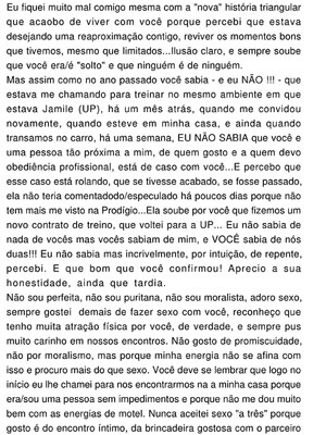 'Carta de amor' &#233; publicada em Di&#225;rio da Justi&#231;a da Para&#237;ba (Foto: Reprodu&#231;&#227;o)