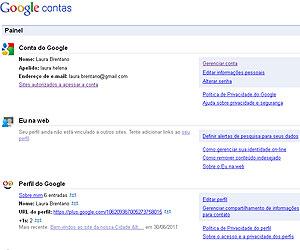 Por meio de Painel de Controle, usuário consegue configurar suas privacidades em vários serviços (Foto: Reprodução)