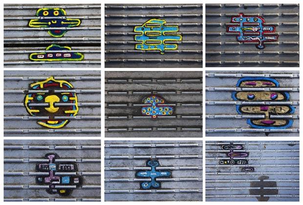Ben Wilson pintou nos últimos sete obras arte em miniatura em chicletes mascados em várias partes de Londres, na Inglaterra, e da Europa. (Foto: Finbarr O'Reilly/Reuters)