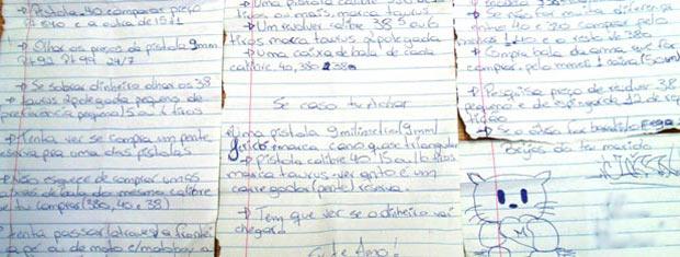 Carta (Foto: Divulgação/Polícia Civil)