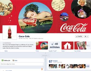 A Coca-Cola já adotou o modelo Linha do Tempo em sua página. (Foto: Reprodução)