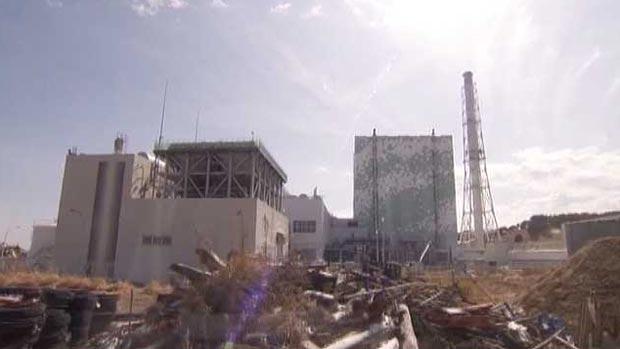 Vista da usina de Fukushima Daiichi (Foto: BBC)