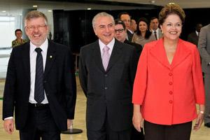 A presidente Dilma Rousseff durante cerimônia de pacto em prol dos direitos dos trabalhadores nas obras (Foto: Ricardo Stuckert / Instituto Lula)