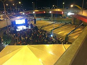 Cerimônia reuniu várias pessoas para a inauguração do complexo viário. (Foto: Marcos Dantas/G1)