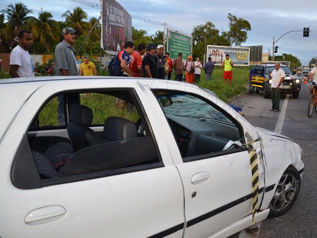 Homem morre em acidente em João Pessoa  (Foto: Walter Paparazzo/ G1)