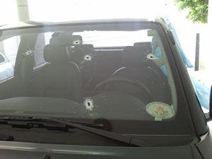 Caminhonete de advogado foi alvo de tiros em Cuiabá (Foto: Jesuíno de Farias/Arquivo Pessoal)