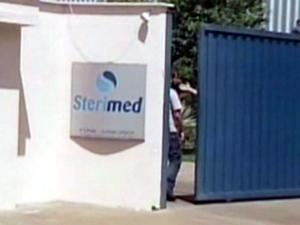 A empresa Sterimed de Cedral, região de São José do Rio Preto (Foto: Reprodução/EPTV)