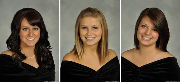 Sarah Hammond, Rebekah Blakkolb e Christina Goyett em fotos divulgadas pela universidade (Foto: AP)