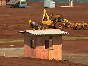 Obras de penitenciária em Jardinópolis, SP (Foto: Reprodução/EPTV)