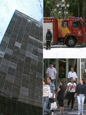 Prédio evacuado (Foto: Reprodução/RPC TV)