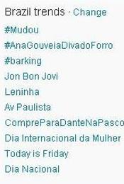 Trending Topics no Brasil às 12h04 (Foto: Reprodução)