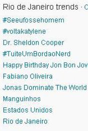Trending Topics no Rio às 12h04 (Foto: Reprodução)