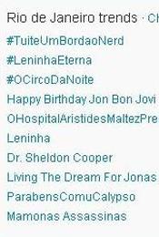 Trending Topics no Rio às 17h02 (Foto: Reprodução)