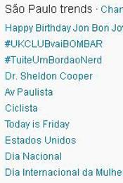 Trending Topics em SP às 12h43 (Foto: Reprodução)