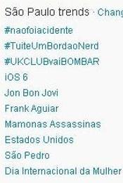 Trending Topics em SP às 17h08 (Foto: Reprodução)