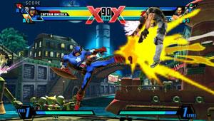 'Ultimate Marvel vs. Capcom 3' traz a mesma experiência e visual do PS3 para o PS Vita (Foto: Divulgação)