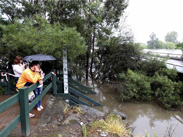 Enchentes na Austrália  (Foto: AP)