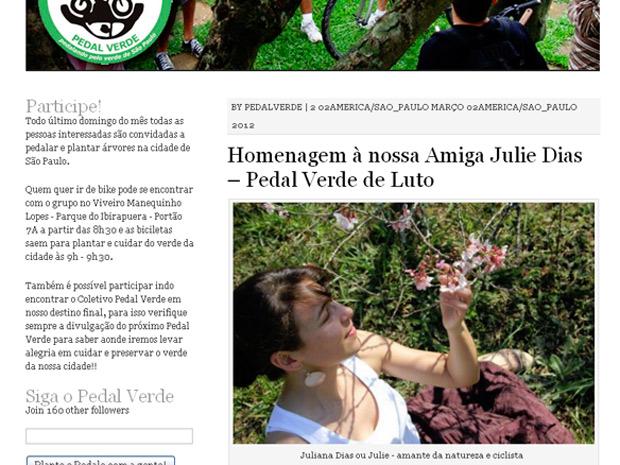 Juliana Dias ciclista (Foto: Reprodução)