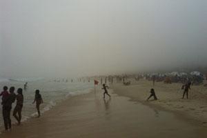Rio entra em estágio de atenção para chuva neste domingo (Gustavo Poli/Globoesporte.com)