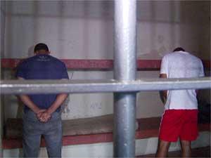 Suspeitos de assaltos em condomínios de Vinhedo são presos (Foto: Reprodução EPTV)