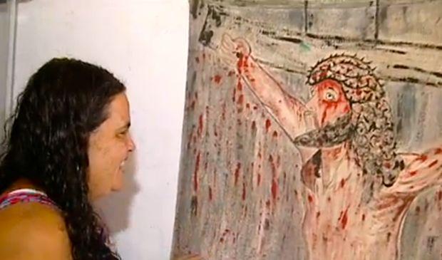 Ercília Stanciany foi aprovada no último vestibular para o curso de Artes Plásticas (Foto: Reprodução/ TV Gazeta)