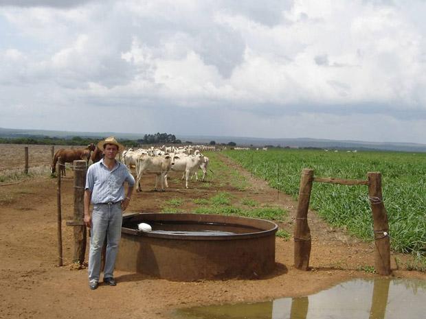 vEm Pedro Afonso (TO), Edmar Correa chegou a obter até quatro vezes mais gado por área com o sistema de integração lavoura pecuária. (Foto: Arquivo pessoal)