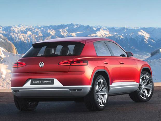 VW Cross Coupé Concept é um híbrido com dois motores elétricos e um a combustão (Foto: Divulgação)