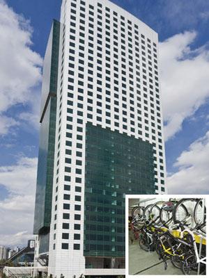 Bicicletário é um dos diferenciais do Eldorado Business Tower, em Pinheiros, na Zona Oeste de São Paulo, que tem o selo verde (Foto: Divulgação/Arquivo pessoal)