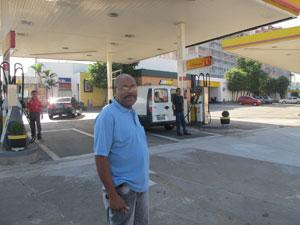 Joselito comprou gasolina para caldeiras de lavanderia (Foto: Juliana Cardilli/G1)