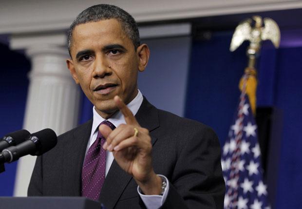 O presidente dos EUA, Barack Obama, dá entrevista nesta terça-feira (6) na Casa Branca (Foto: Reuters)
