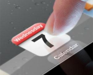 Imagem do convite de lançamento do novo iPad mostra tela com maior definição (Foto: Divulgação)