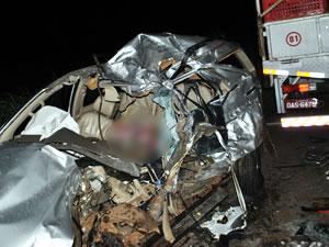 acidente em Diamantino (MT) (Foto: Márcio Mendes/O Divison)