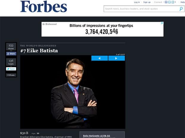 Eike Batista Forbes (Foto: Reprodução/Forbes)