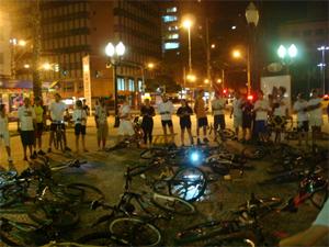 Ciclistas de Campinas homenageiam bióloga que morreu na capital paulista (Foto: Divulgação / Marcílio Limonge)