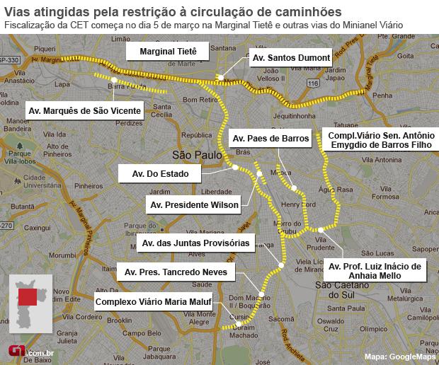CERTO mapa restricoes  (Foto: g1)