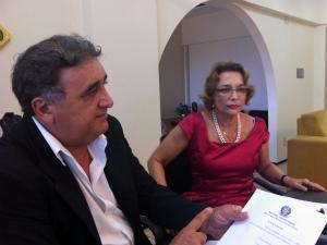 Procuradores apresentaram denúncia na manhã desta quinta-feira (8) em Fortaleza. (Foto: André Alencar/TV Verdes Mares)