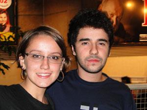 Natalie Christine e Pedro Gibson vão ao primeiro show de Morrissey. (Foto: Pedro Cunha/ G1 MG)