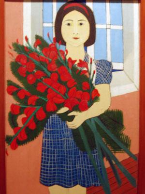 Menina e flores de Djanira (Foto: Divulgação)