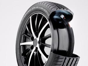 Pneu da Goodyear tem sistema interno que mantém o pneu calibrado (Foto: Divulgação)