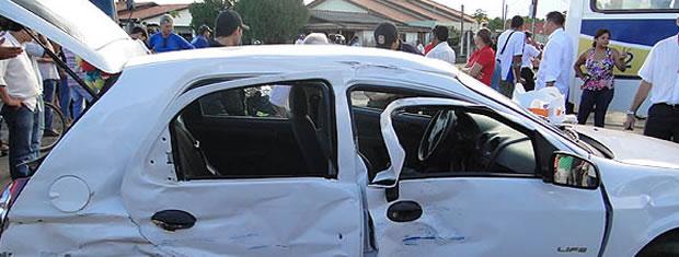 Três idosas morreram em um acidente no centro de Sinop (Foto: Cleverton Neves/Só Notícias)