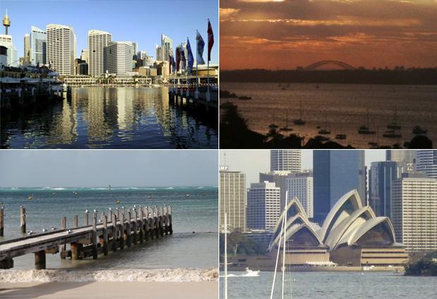 Paisagens naturais e construídas são parte do charme das cidades australianas (Foto: Arquivo pessoal/Carolina Brenoe/Marcus Vinicius da Silva Farias)