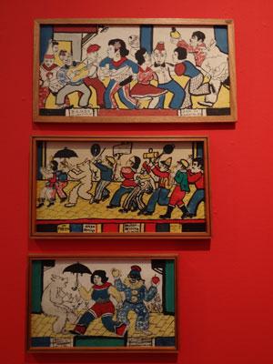 Quadros em exposição no MAC (Foto: Luna Markman/G1)