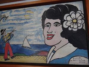Tela traz a tradicional assinatura: 'Bajado, um artista de Olinda' (Foto: Reprodução)