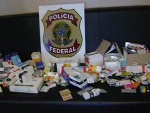 Medicamentos foram apreendidos durante a operação (Foto: Divulgação / PF)