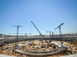 Obras do estádio do Maracanã no Rio de Janeiro para a Copa do Mundo de 2014 (Foto: Bia Alves/AE)