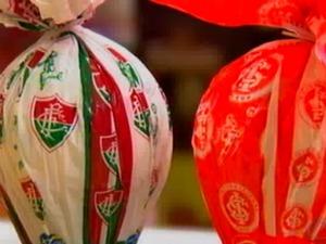 Ovos de times de futebol estão entre os preferidos. (Foto: Reprodução/ TVCA)