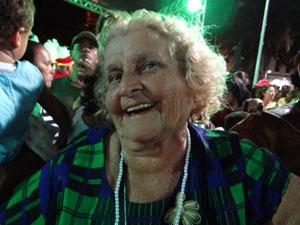 Maria de Lourdes costumava ir com o pai à festa (Foto: Luna Markman/G1)
